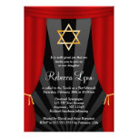 Hollywood Star of David Bat Mitzvah Invitations Personalized Invite