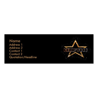 Hollywood Star Pack Of Skinny Business Cards