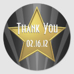 Hollywood Star Thank You Sticker