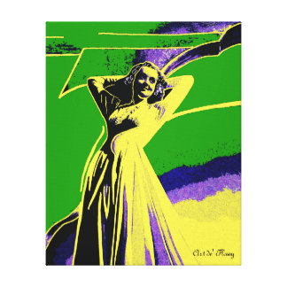 Hollywood Starlet - Bette Gallery Wrapped Canvas
