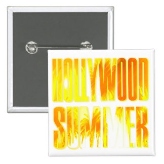 Hollywood Summer Yellow Orange Letter Button