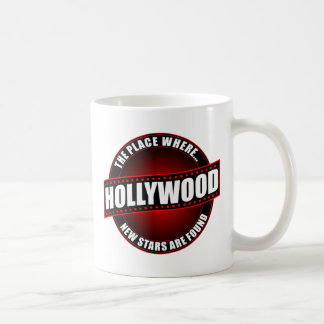 Hollywood - The Place Where... New Stars Are Found Basic White Mug