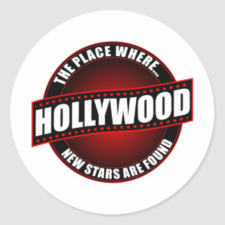 Hollywood - The Place Where... New Stars Are Found Round Sticker