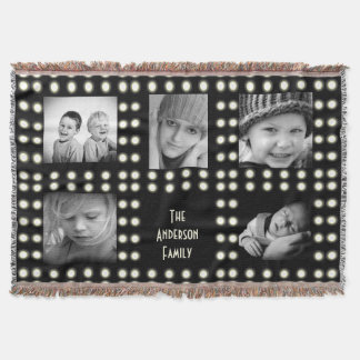 Hollywood Theme Custom Photo Family Keepsake Throw Blanket