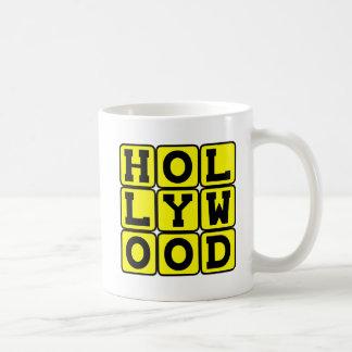 Hollywood, Tinseltown California Basic White Mug