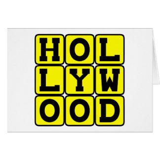 Hollywood, Tinseltown California Greeting Card