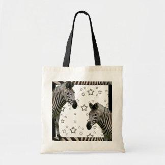 Hollywood Zebras Budget Tote Bag