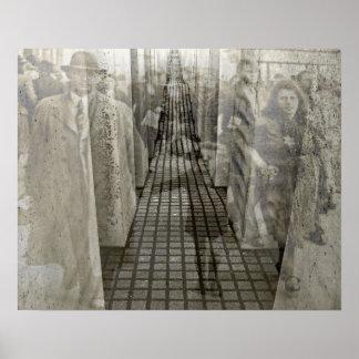Holocaust Memorial (Denkmal), Berlin (j5sepia) Poster