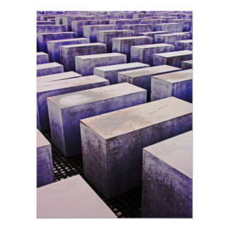 Holocaust Memorial (Denkmal), Berlin, Mauve (j7pst Poster