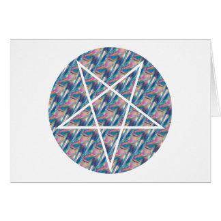 hologram pentagram greeting card