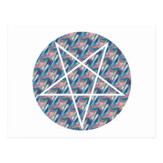 hologram pentagram postcard