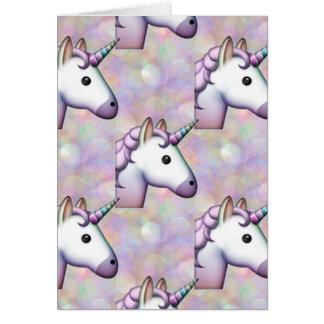 hologram unicorn emoji greeting card