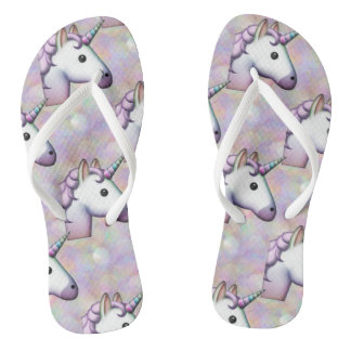 hologram unicorn emoji shoes sandals flip flops