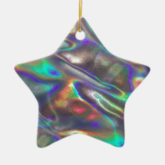 holographic christmas ornament