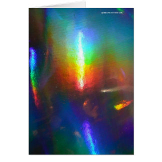 Holographic Flame Greeting Card