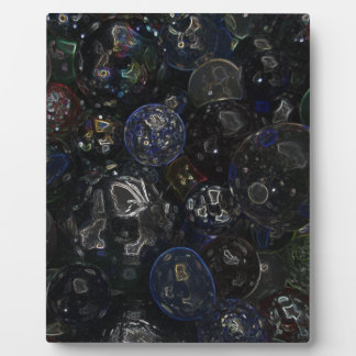 Holographic Marbles Plaque