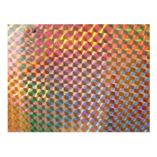 holographic metal photograph colorful design postcards