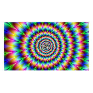 Holographic Optical Illusion Spiral Rainbow Pack Of Standard Business Cards