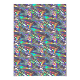holographic silver card