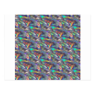 holographic silver postcard