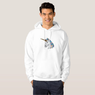 holographic unicorn mens hooded sweatshirt hoodie