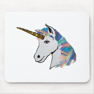 holographic unicorn mouse pad