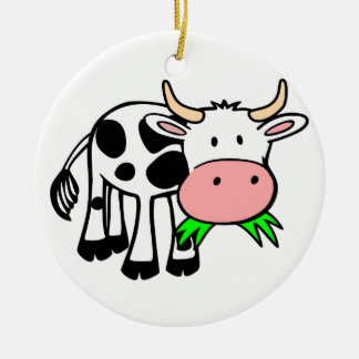 Holstein cow christmas ornament