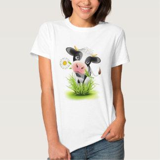 Holstein cow in grass t shirt