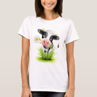 Holstein cow in grass T-Shirt