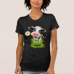 Holstein cow in grass tshirt