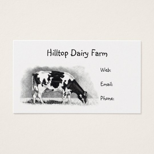 Holstein Cow in Pencil: Dairy, Milk, Farm Business
