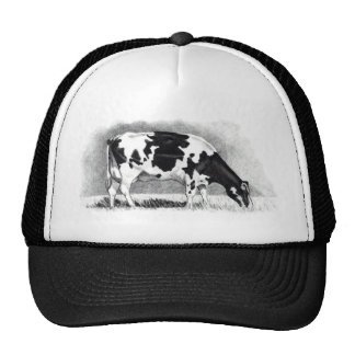 Holstein Cow: Pencil Drawing: Farm, Country Cap