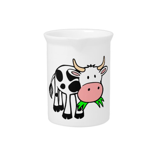 Holstein cow pitcher