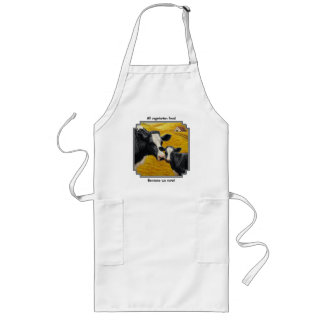 Holstein Cows and Old Wood Barn Long Apron