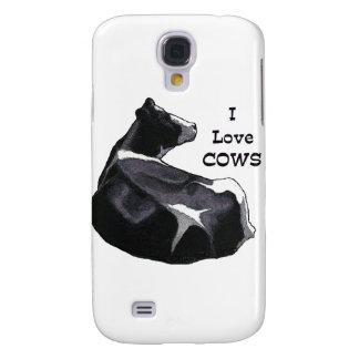 Holstein Dairy Cow: I Love Cows: Original Art Galaxy S4 Case