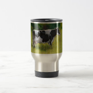 Holstein Dairy Cow: Oil Pastel Painting Travel Mug