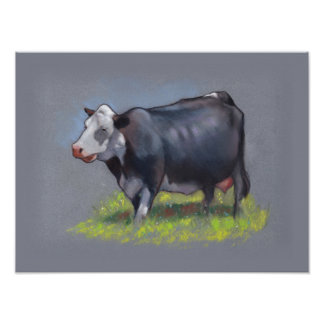 Holstein Dairy Cow, Original Pastel Painting Poster