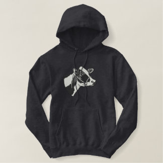Holstein Head Embroidered Hoodie