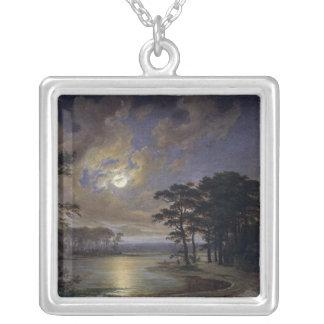 Holstein Sea - Moonlight, 1847 Silver Plated Necklace
