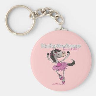 Holsteiner Horse Ballet Basic Round Button Key Ring