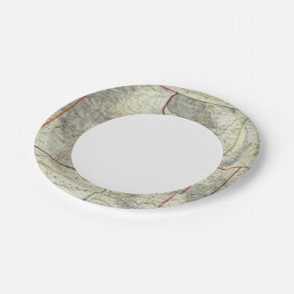 Holt's New Map, Wyoming 7 Inch Paper Plate