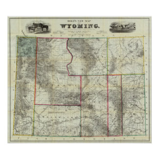 Holt's New Map, Wyoming Poster