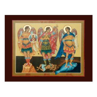 Holy Archangels Prayer Card Postcard