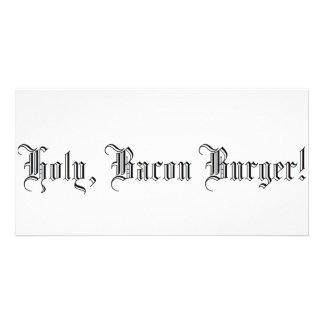 Holy Bacon Burger Photo Greeting Card