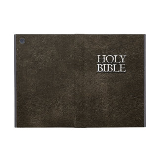 Holy Bible Christian Religion Faux Brown Leather Covers For iPad Mini