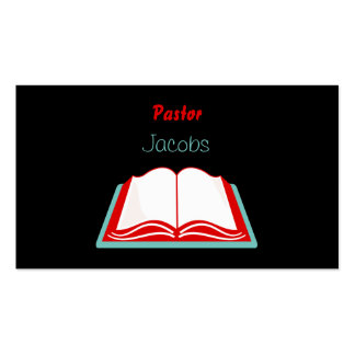 Holy Bible, Pastor, Jacobs Pack Of Standard Business Cards