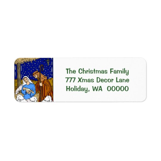 Holy Christmas Card Envelopes  Stickers Return Address Label