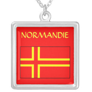 Holy collar Normandy Cross olaf Square Pendant Necklace