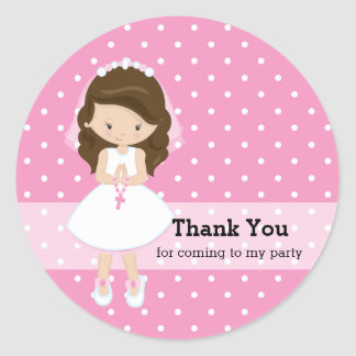 Holy Communion Classic Round Sticker