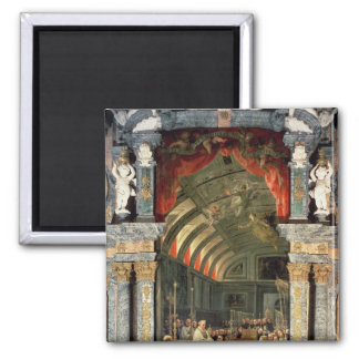 Holy Communion of Charles II Square Magnet
